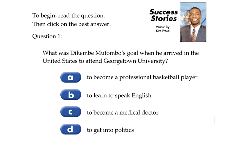 Success Stories 2 Dikembe Mutombo Quiz
