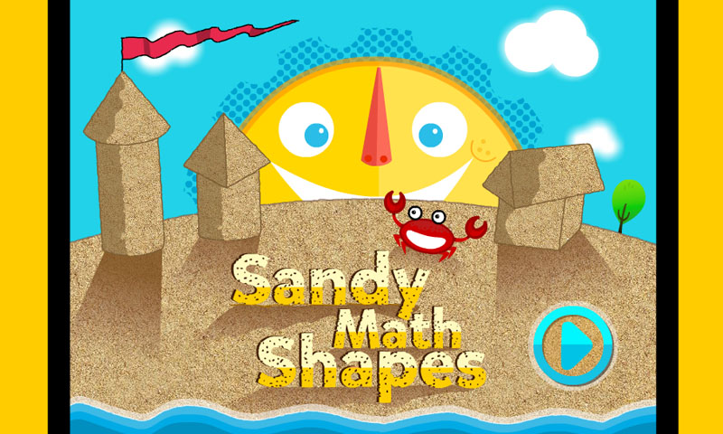 Sandy math shapes