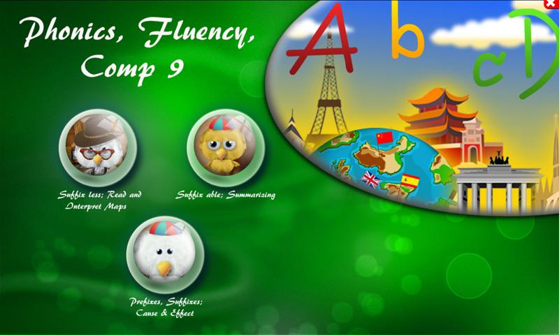 Phonics, Fluency, Comp:9