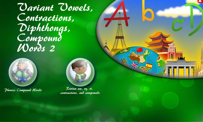 Variant Vowels, Contractions, Diphthongs, Compound Words 2