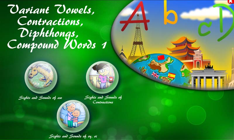 Variant Vowels, Contractions, Diphthongs, Compound Words 1